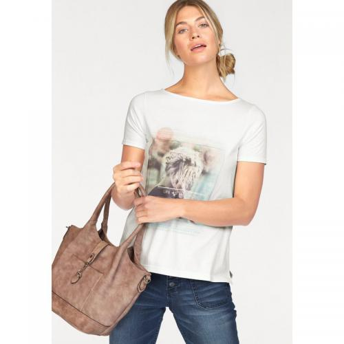 S.Oliver - Tee-shirt manches courtes col rond imprimé femme S. Oliver f185dabf6775