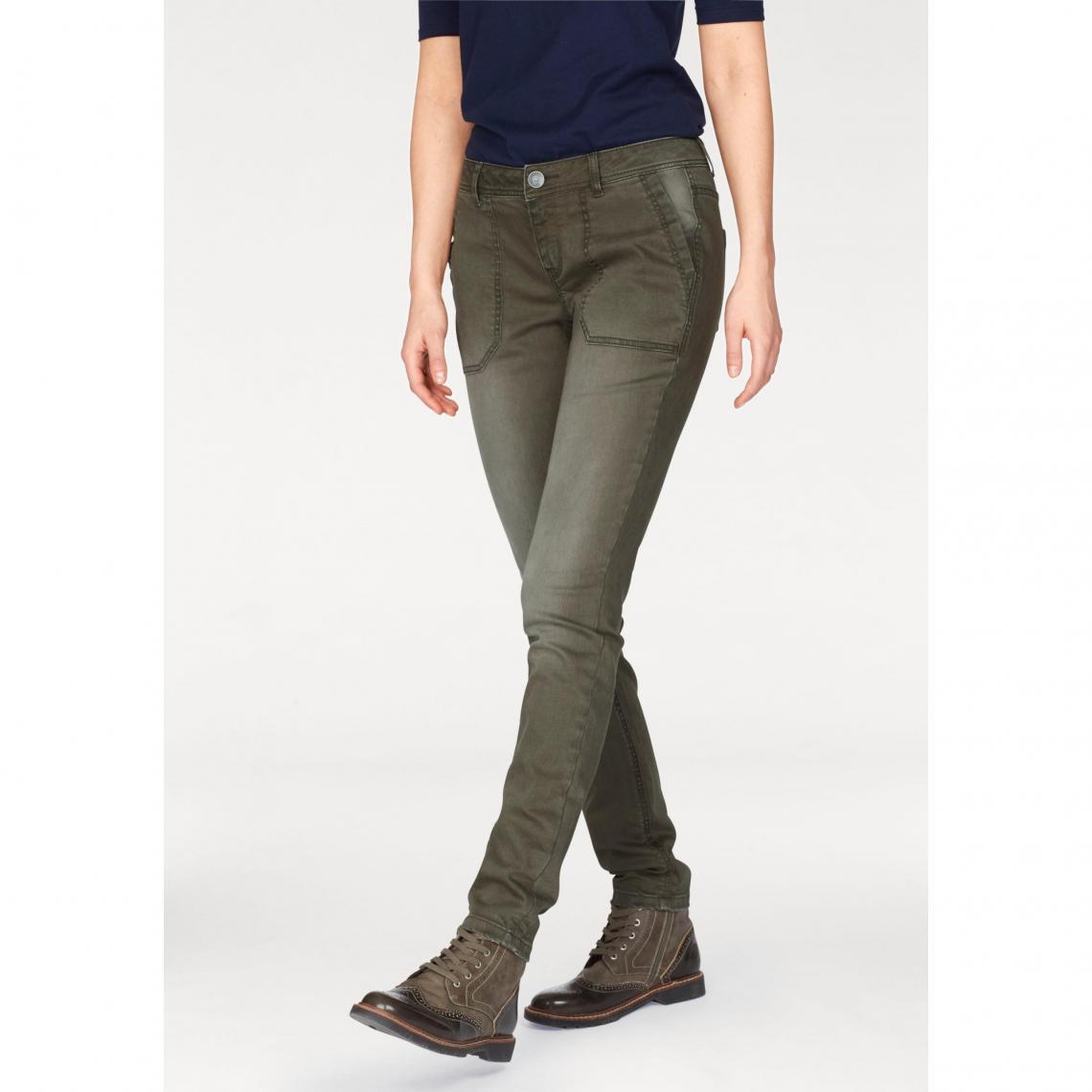4275a95d63af8 Pantalon slim aspect usé femme S. Oliver - Kaki S.Oliver Femme
