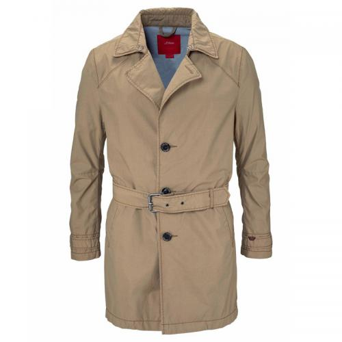 Trench court homme S. Oliver - Beige S.Oliver