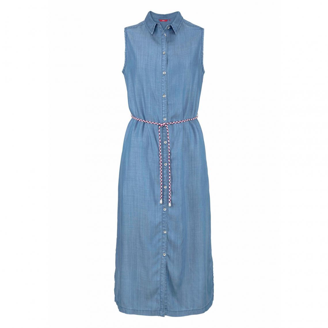 Robe denim sans manches femme S. Oliver - Blue Denim   3Suisses bf98a17963b7