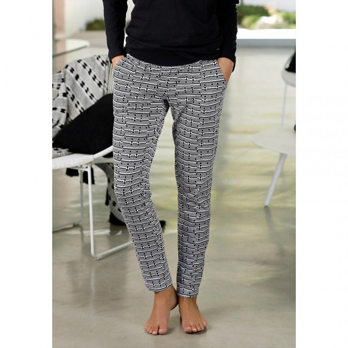 6163906742e50 Pantalon de pyjama femme s.Oliver - Blanc - Gris S.Oliver Lingerie femme
