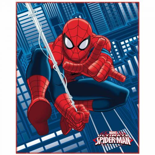 Spiderman - Plaid polaire Spiderman Jump - Bleu - Plaid