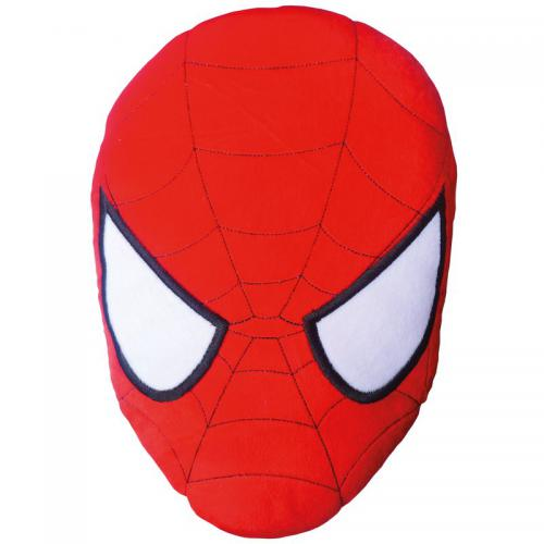 Spiderman - Coussin en 3D tête Spiderman Mask - Rouge - Linge de maison