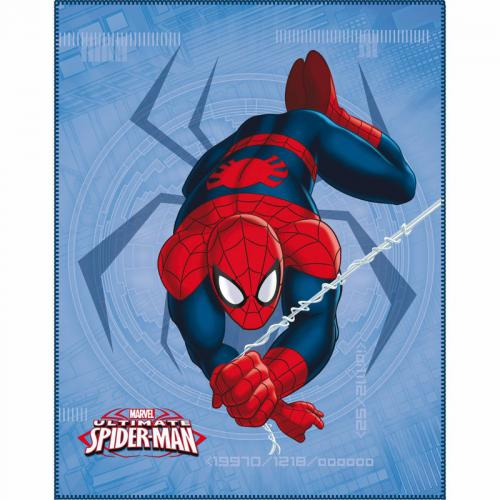 Spiderman - Plaid polaire Spiderman - Rouge - Linge de maison