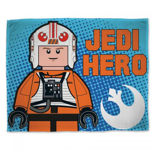 Starwars - Plaid polaire Lego Star Wars - Bleu - Linge de maison