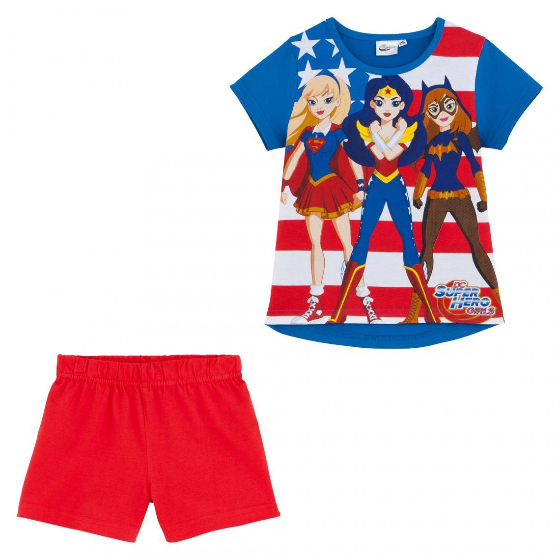 Pyjashort fille Super Hero Girl - Bleu - 3Suisses