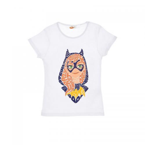 Super Héros Girl - Tee-shirt manches courtes fille Super Héros Girl - Blanc - Vêtements fille