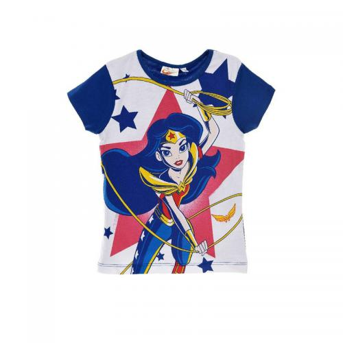 Super Héros Girl - Tee-shirt manches courtes fille Super Héros Girl - Bleu Marine - Vêtements fille
