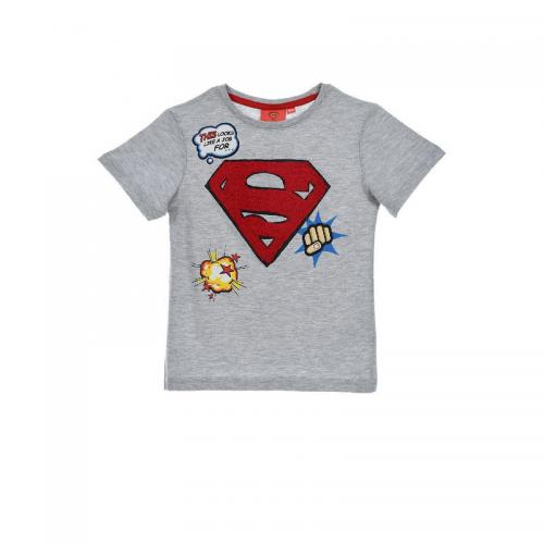 Superman - T-shirt manches courtes garçon Superman - Gris - T-shirt / Polo