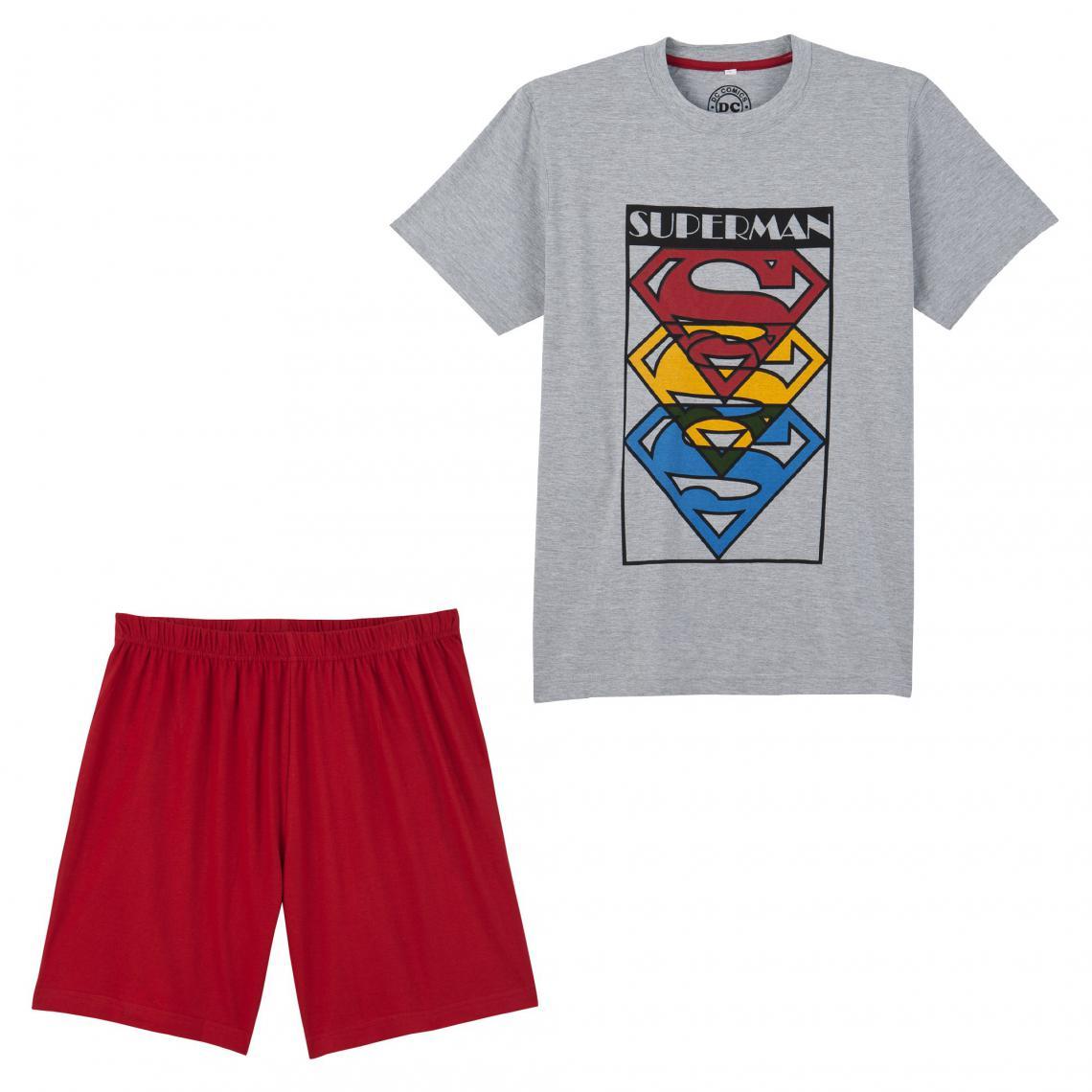 Pyjashort Superman pour homme - Gris - 3Suisses