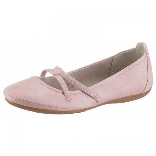 35727f1ef3d84 Tamaris - Ballerines à brides élastiques matiére synthétique femme Tamaris  - rosé - Promos chaussures,