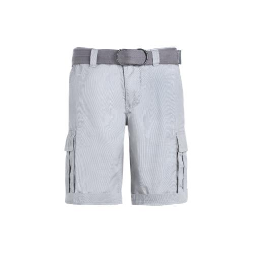Teddy Smith - Bermuda rayé multipoches homme + ceinture sangle Teddy Smith - Gris - Bermuda / Short