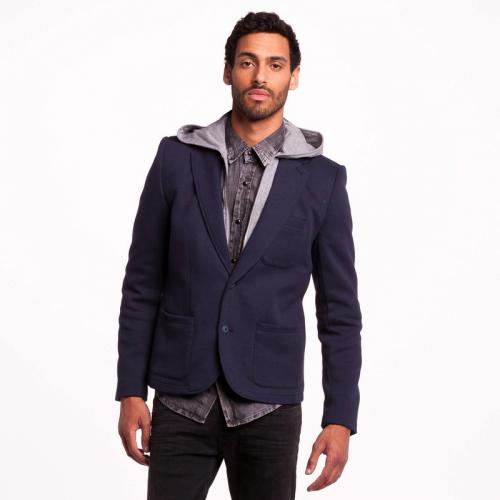 Teddy Smith - Veste sweat à capuche 2 en 1 homme Vpuch Teddy Smith - Bleu - Promos vêtements homme