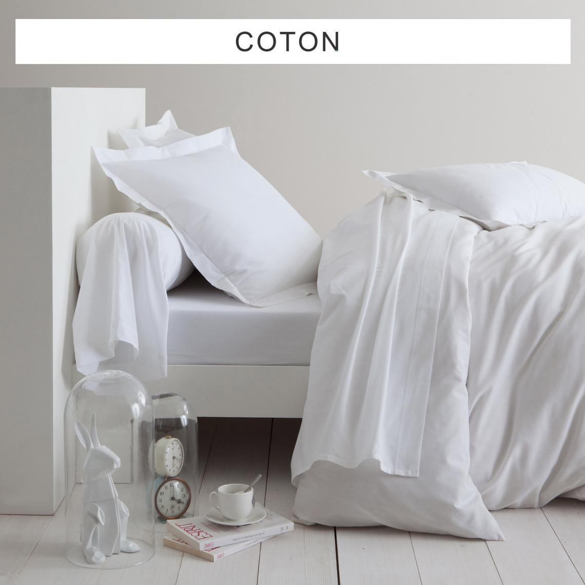 Drap-housse uni coton Tertio® - Blanc | 3