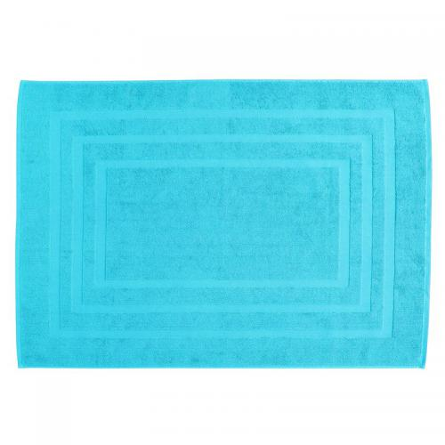 Tapis de bain en éponge bouclette coton 750 gm² Tertio® - TURQUOISE