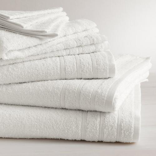 Tertio   Lot De 2 Serviettes Invité Coton 420 Gm² Tertio®   Blanc    Serviette