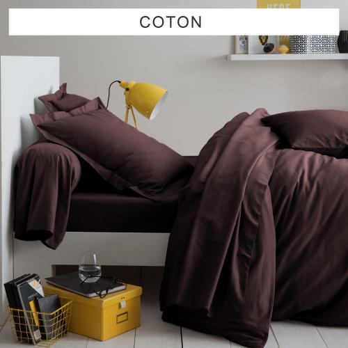 0ba90078ccde4 Tertio - Drap-housse uni coton Tertio® - Marron - Drap plat enfant