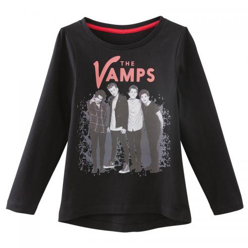 The Vamps - T-shirt manches longues print monochrome fille The Vamps - Noir - Vêtements fille