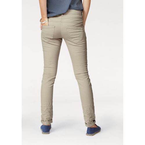 Tom tailor - Pantalon droit 5 poches coton stretch femme L32 Tom Tailor -  Beige - 7d687c003bb2