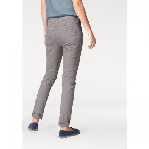 Tom tailor - Pantalon droit 5 poches coton stretch femme L32 Tom Tailor -  Gris - 10dcba1642d8