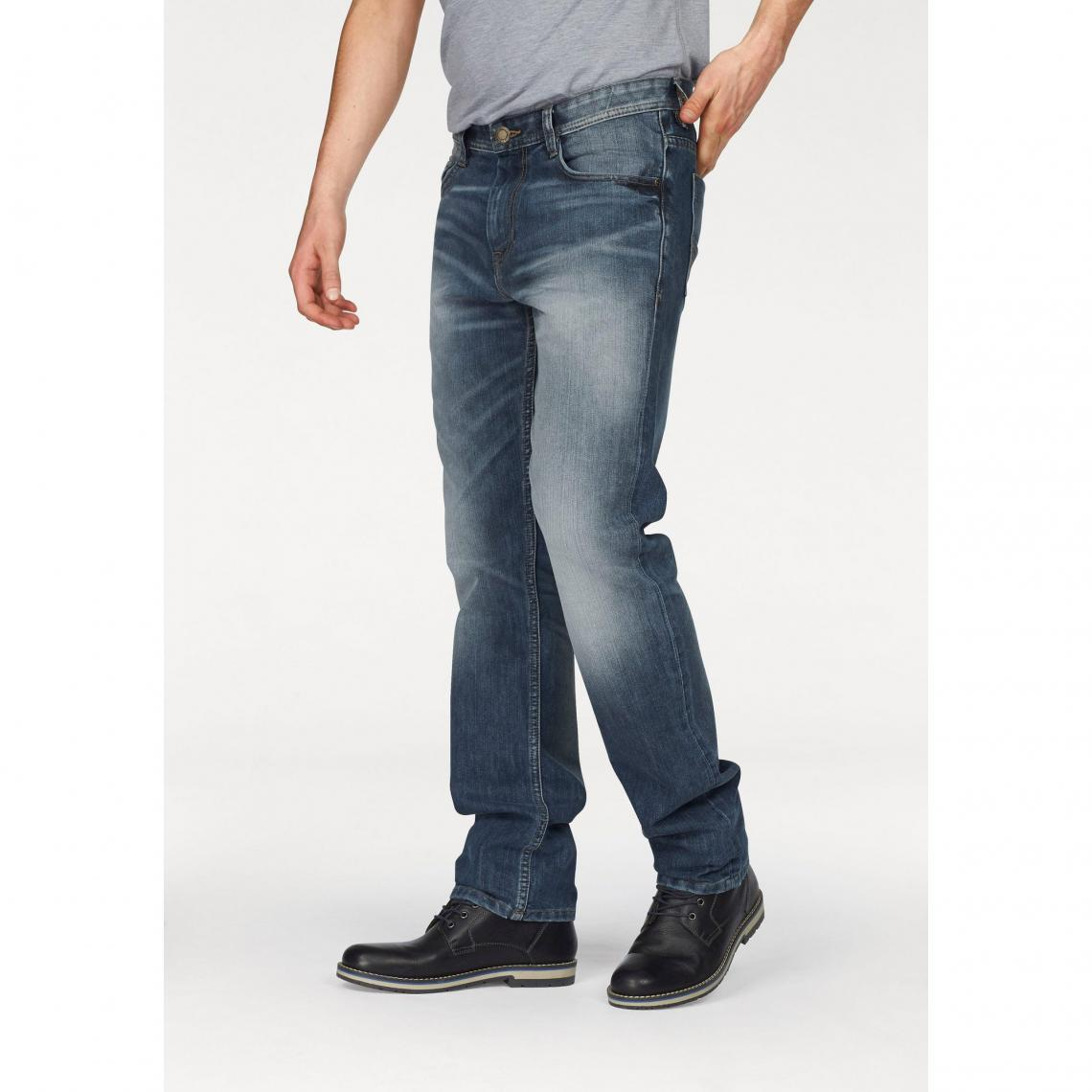 0c6f261f6de Jean Marvin slim used 5 poches L34 homme Tom Tailor - Multicolore Tom  tailor Homme