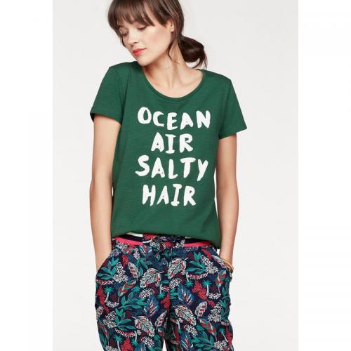 Tom tailor - T-shirt manches courtes femme Tom Tailor Denim - Vert Foncé - 1bc4f02fb878