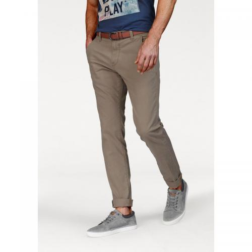 Tom tailor - Pantalon chino L34 homme Tom Tailor Denim - Boue - Promos vêtements homme