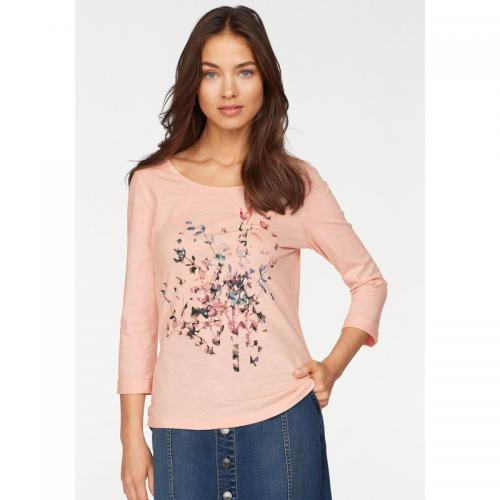 Tom tailor - T-shirt manches 3/4 femme Tom Tailor - rosé - T-shirt / Débardeur