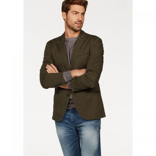 Tom tailor - Veste de costume en toile homme Tom Tailor - Kaki - Promos vêtements homme