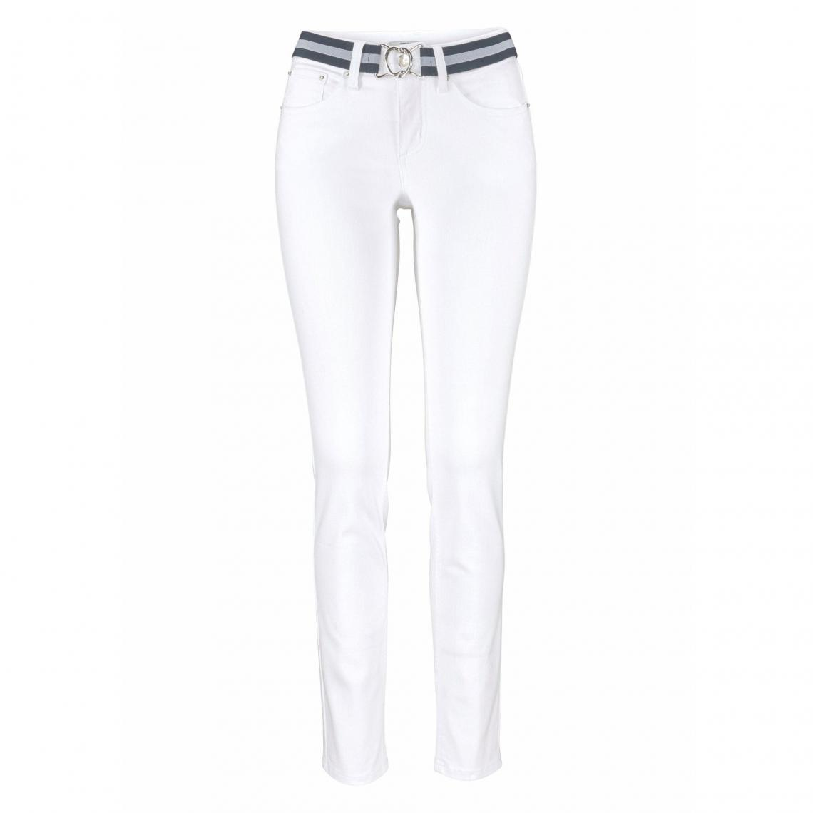 0ab4c0d52ee Jean skinny coton stretch femme Tom Tailor Polo Team - Blanc Mat Tom tailor