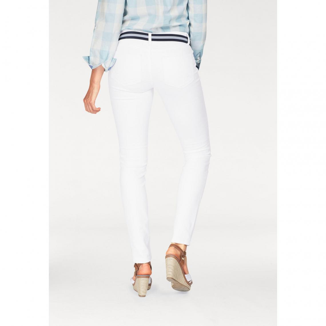 a53823cfcb6 Jean skinny coton stretch femme Tom Tailor Polo Team - Blanc Mat