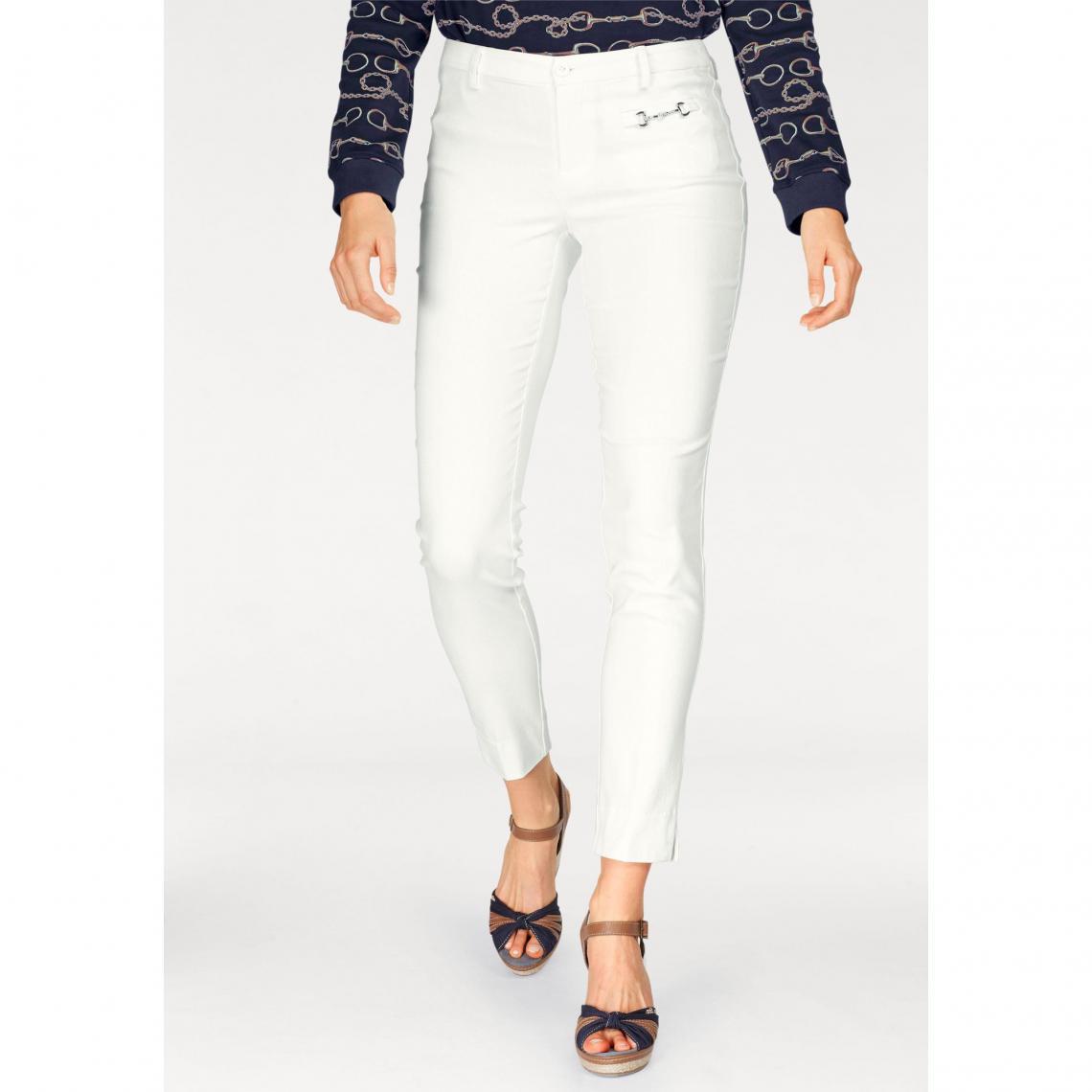 Pantalon coupe droite femme Tom Tailor Polo Team - Blanc Mat | 3 SUISSES