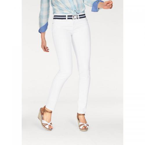 Tom tailor - Jean skinny coton/stretch femme Tom Tailor Polo Team - Blanc Mat - Jean et denim