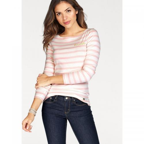Tom tailor - Pull rayé col bateau manches longues femme Tom Tailor Polo Team - rayé rosé - Tom tailor