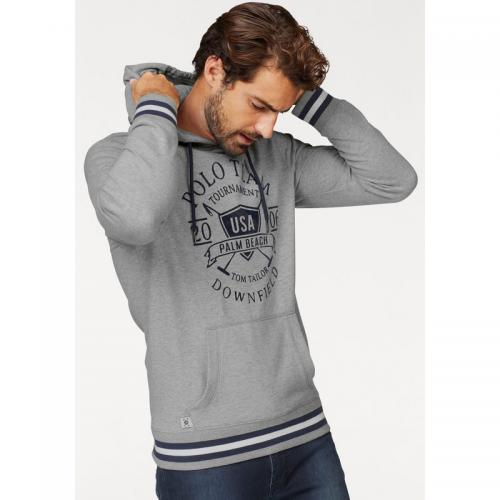 Tom tailor - Sweat-shirt à capuche homme Tom Tailor - Gris Moyen Chiné - Promos vêtements homme
