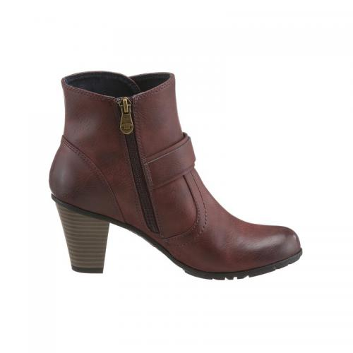 Tom tailor - Boots femme Tom Tailor - Rouge - Promos chaussures, accessoires femme