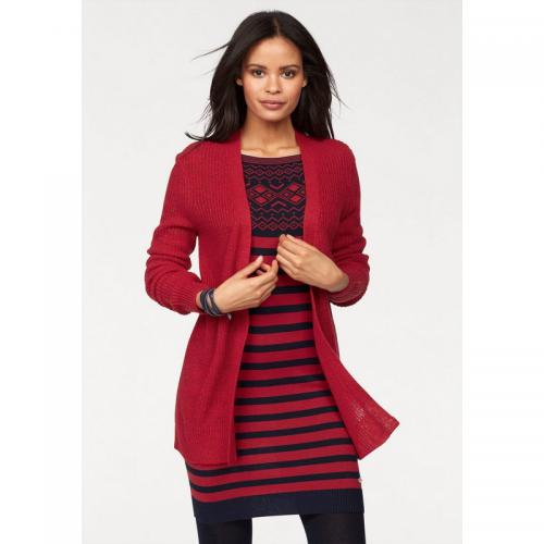 Tom tailor - Gilet long femme Tom Tailor Polo Team - Rouge - Vêtements femme