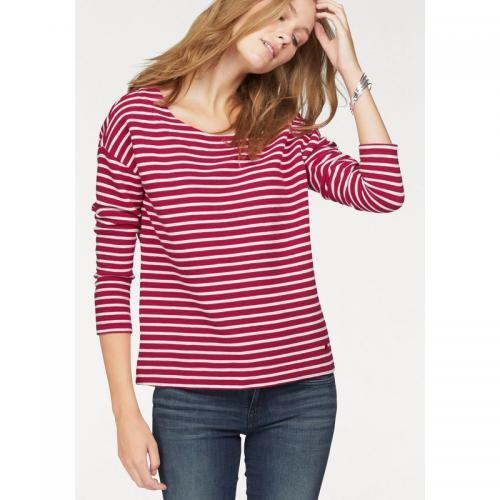 Tom tailor - Sweat-shirt Tom Sailor femme - Rouge - Blanc - Tom tailor 088e2e27f5e6