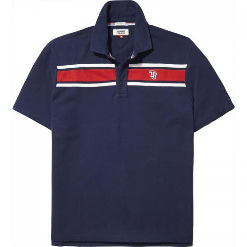 Polo manches courtes homme Tommy Jeans - Bleu Marine Tommy Jeans Homme