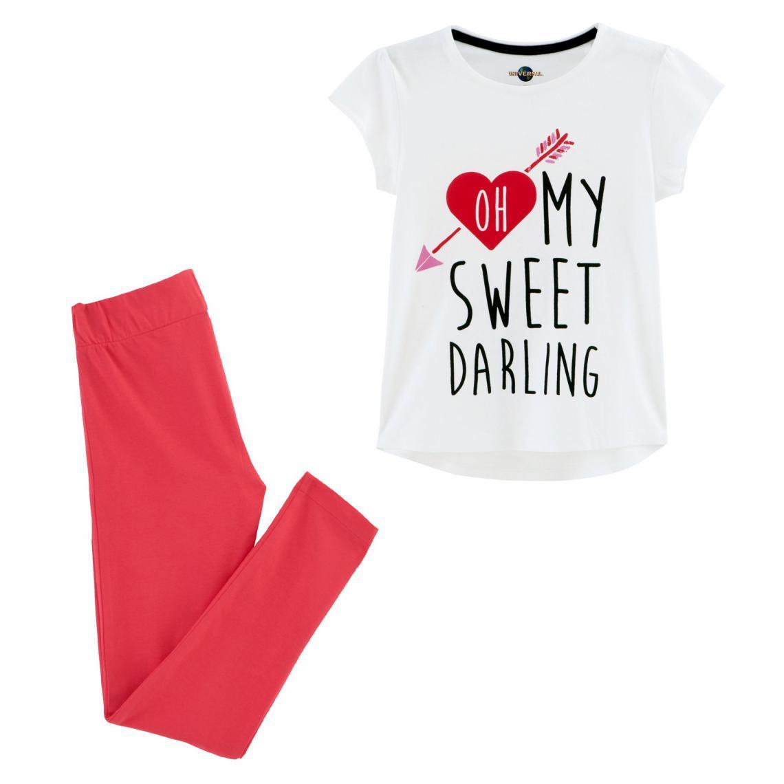 Pyjama fille Lyrics - Blanc - 3Suisses