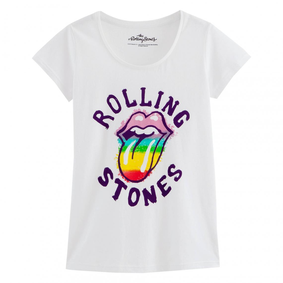 6cde736d51e74 T-shirt manches courtes imprimé Rolling Stones femme Universal - Blanc Universal  Music Femme