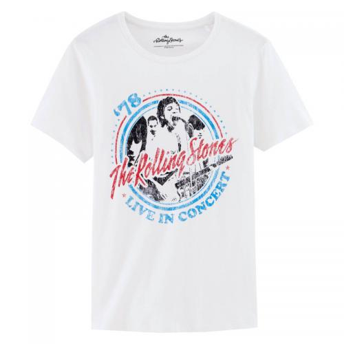 Universal Music - T-shirt col rond manches courtes The Rolling Stones Homme Universal - Blanc - Vêtements homme