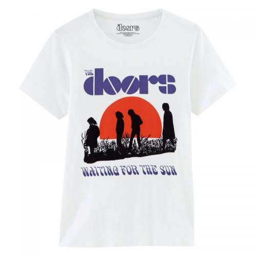 Universal Music - T-shirt col rond manches courtes The Doors Homme Universal - Blanc - T-shirt / Polo