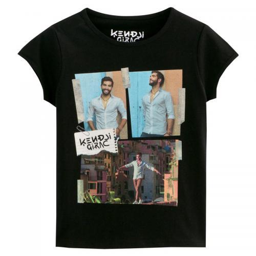 b10689e2107e2 Universal Music - T-Shirt Kendji Girac à manches courtes fille Universal -  Noir -