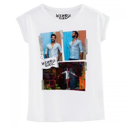 Universal Music - T-Shirt Kendji Girac à manches courtes fille Universal - Blanc - Promotions 3 SUISSES