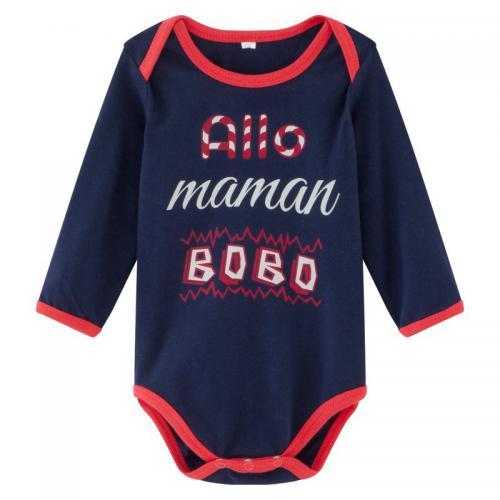 Universal Music - Body bébé enfant Allo Maman Bobo manches longues - Bleu -  Vêtements 2ef2e1bca39