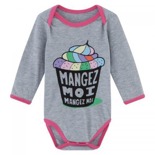 Universal Music - Body bébé fille Mangez Moi à manches longues - Gris -  Vêtements 5b7ab42dace