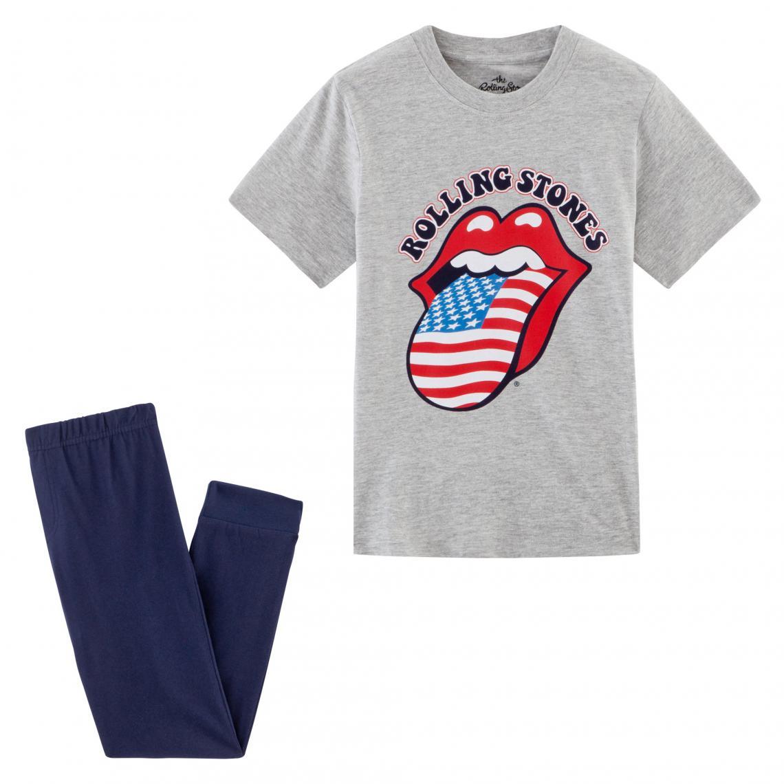 Pyjama gar�on imprim� Rolling Stones Universal - Bleu - 3Suisses