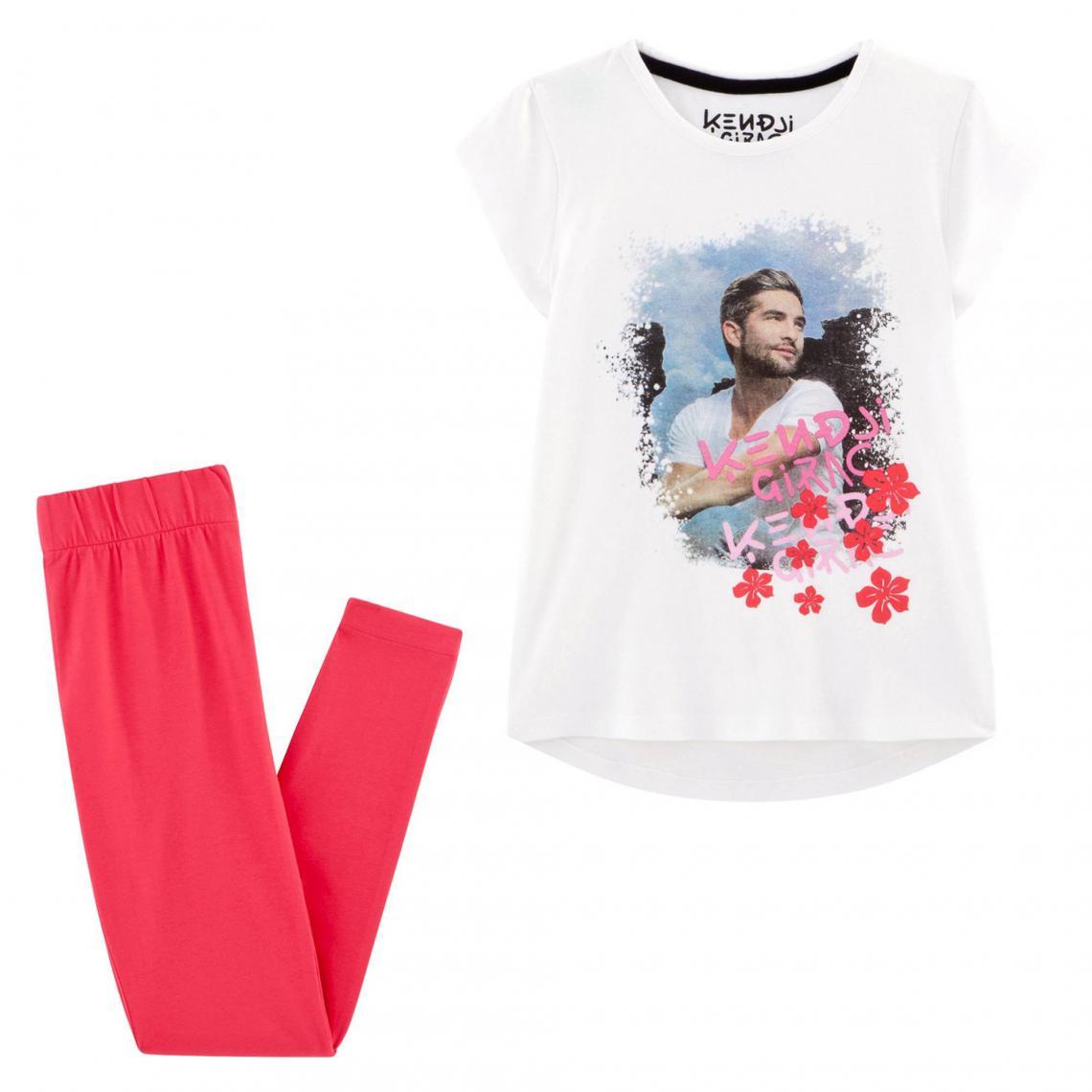 Pyjama fille imprim� Kendji Girac Universal - Blanc - 3Suisses