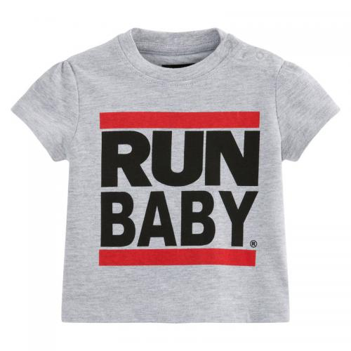 Universal Music - T-shirt col rond manches courtes fille Run-DMC - gris chiné - Universal Music
